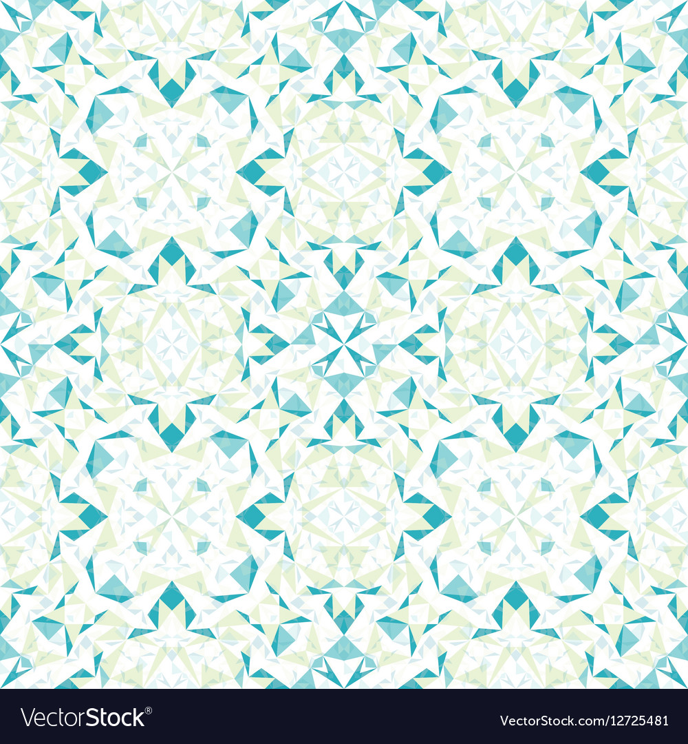 Modern White Blue Green Abstract Geometric