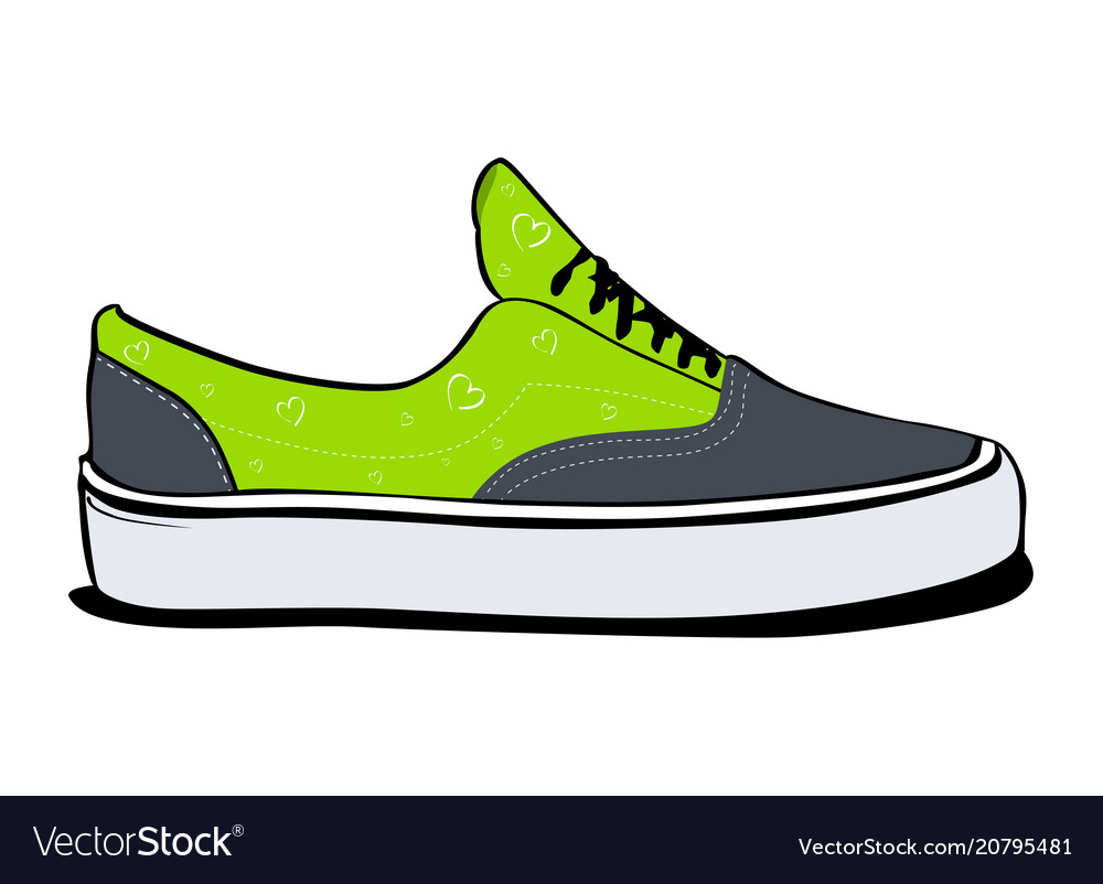 side view in green color Vector Image