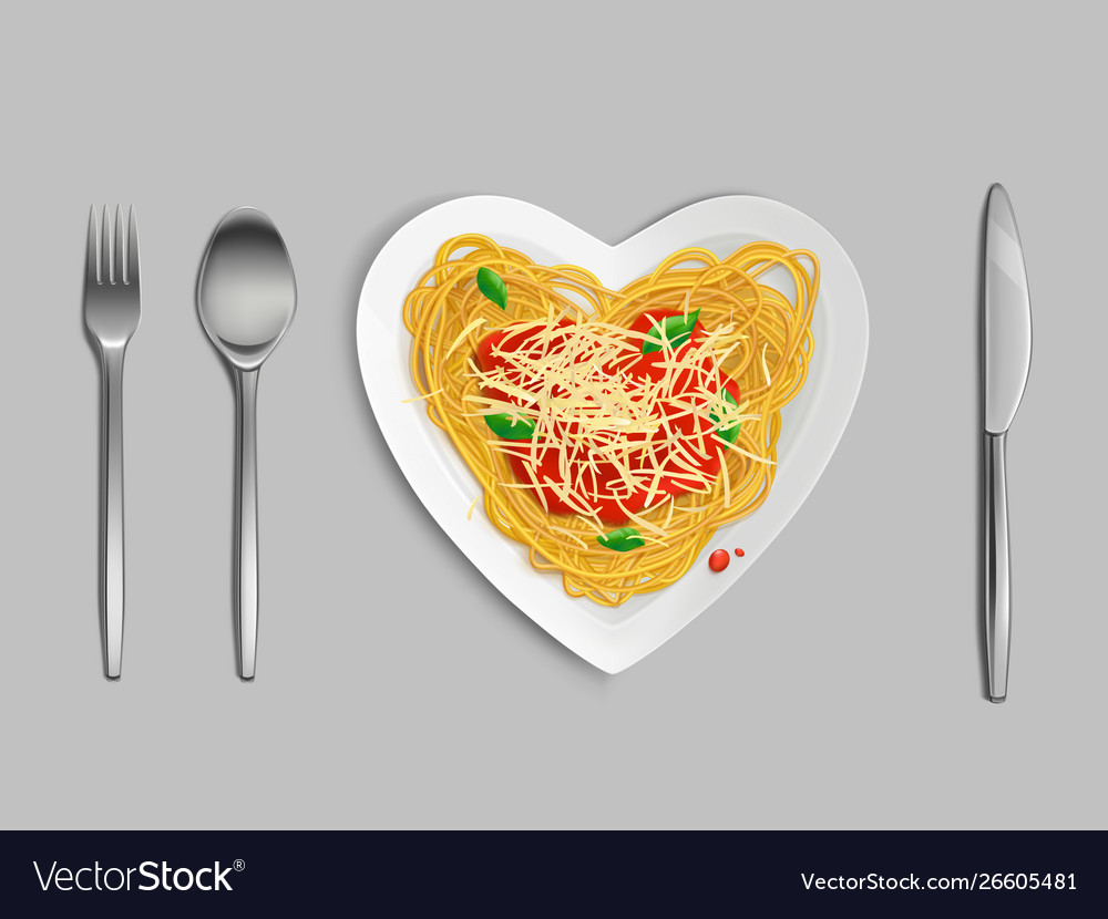 Pasta with sauce and cheese top view spaghetti