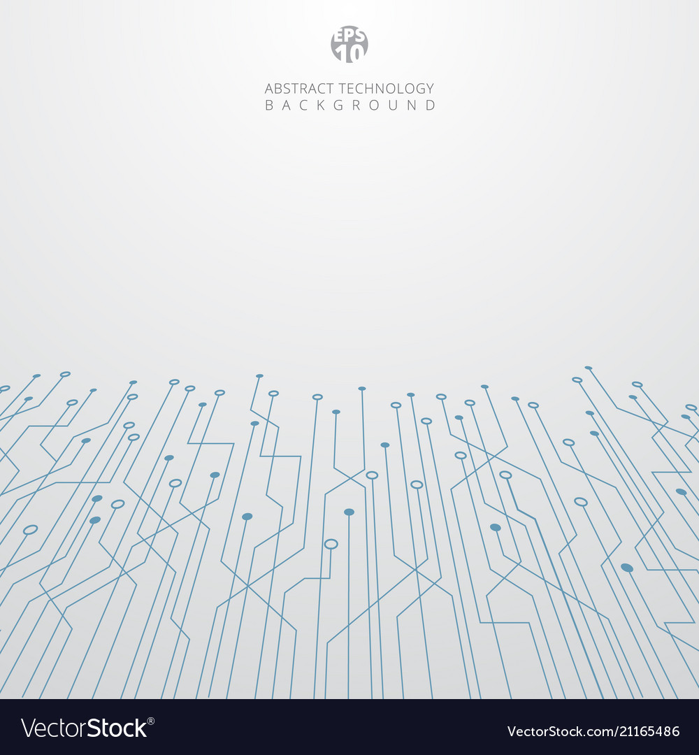 Abstract technology blue circuit board vector image
