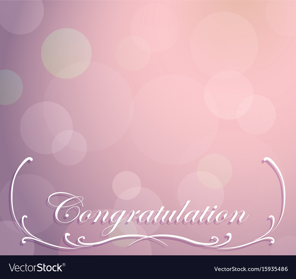 background template for congratulation royalty free vector