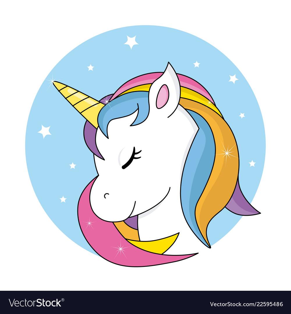 Cute unicorn Royalty Free Vector Image - VectorStock