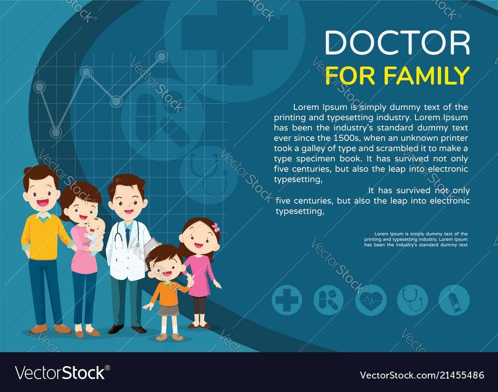 Doctor woman and kids background poster landscape