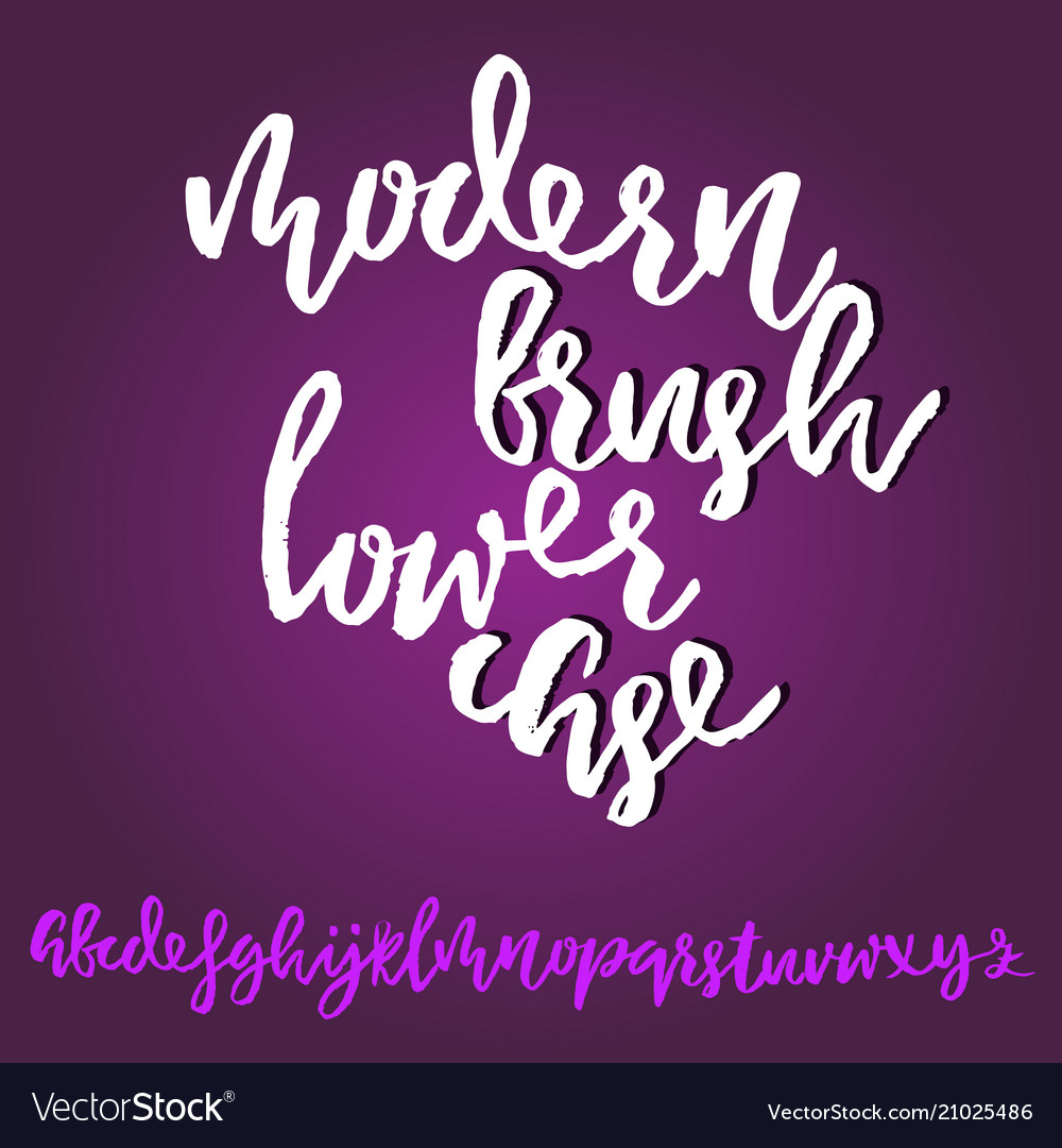 Grunge distress font modern dry brush ink letters