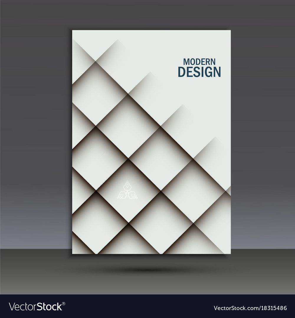 Modern brochure design template with