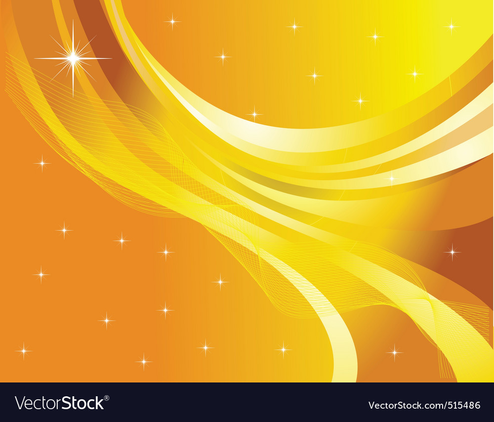 star abstraction on a yellow background royalty free vector