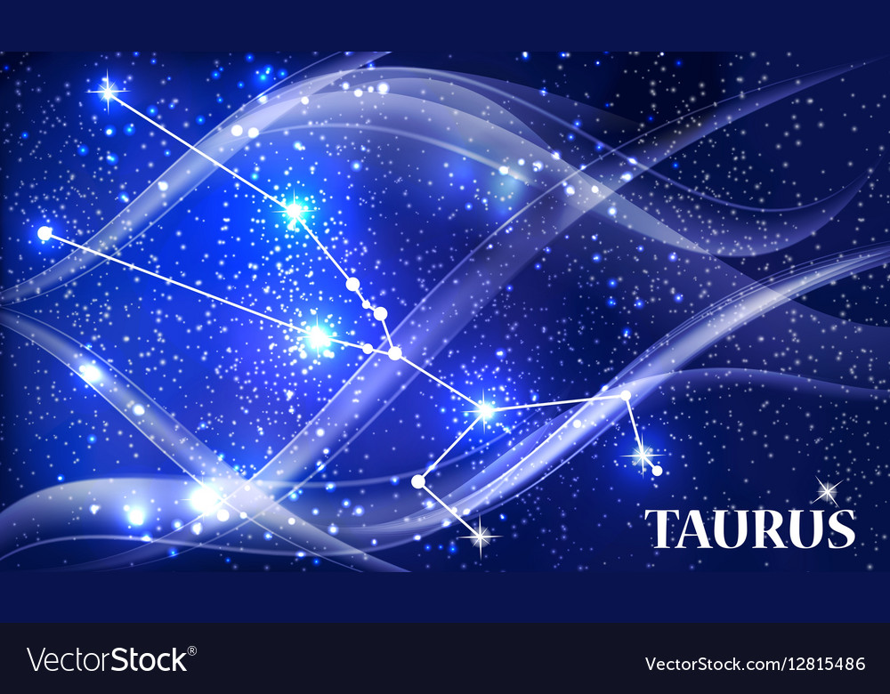 Symbol Taurus Zodiac Sign Royalty Free Vector Image