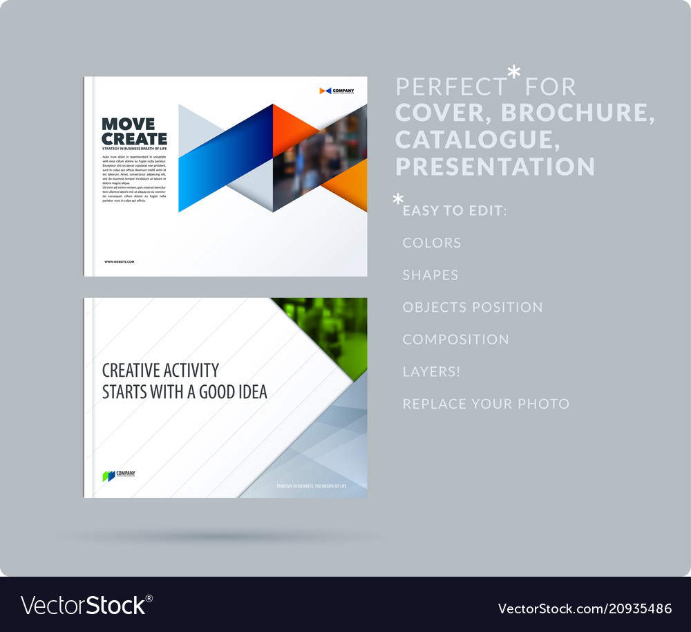 Triangular Design Presentation Template With Vector Image On Vectorstock