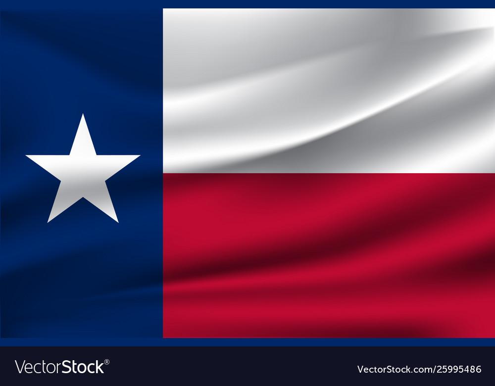 Waving flag texas 10 eps