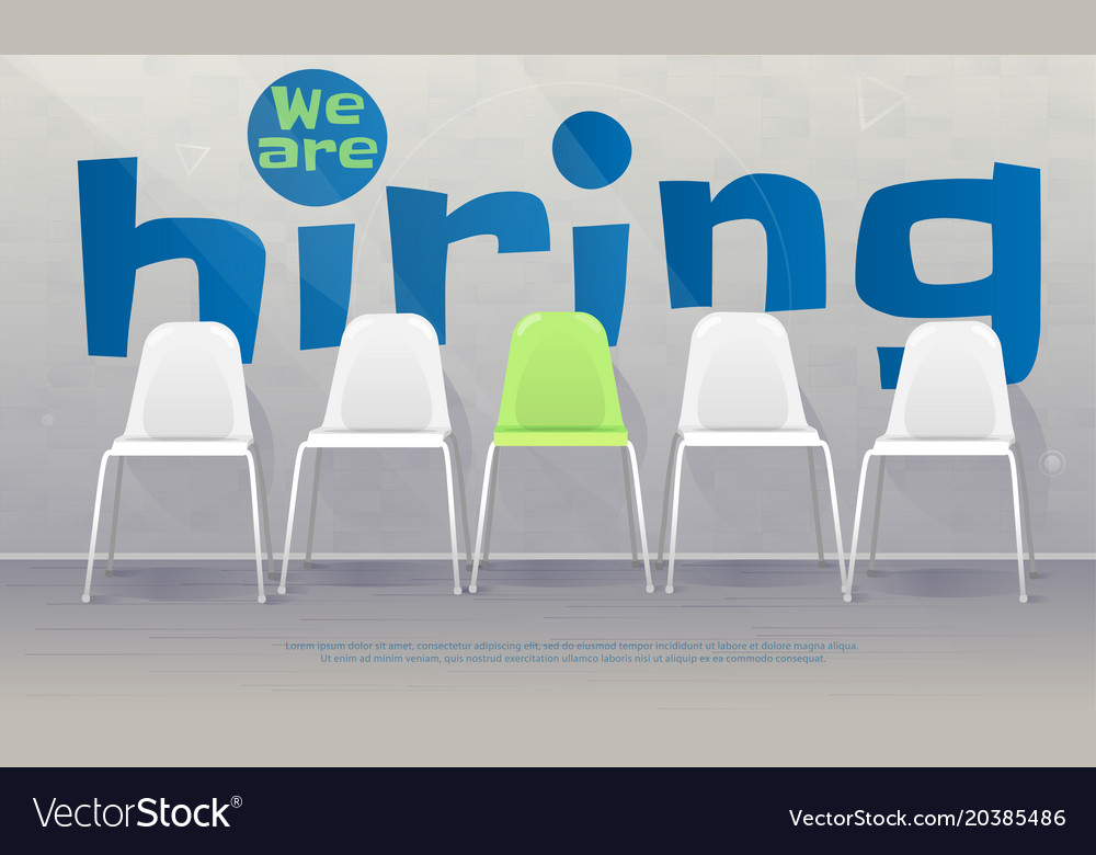 We are hiring banner vacant chairs near office
