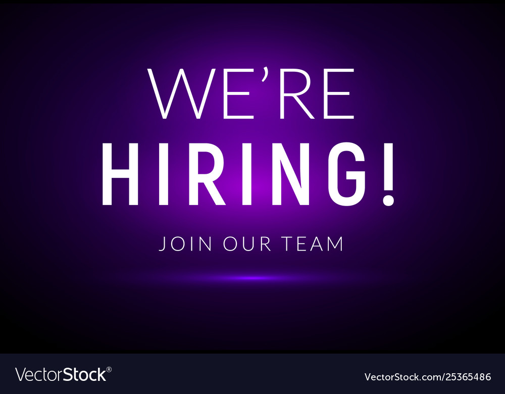 We are hiring career employee message background