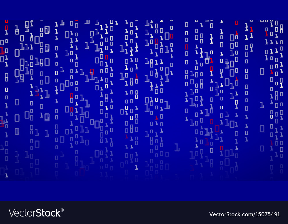 Binary background binary code with digits on vector image