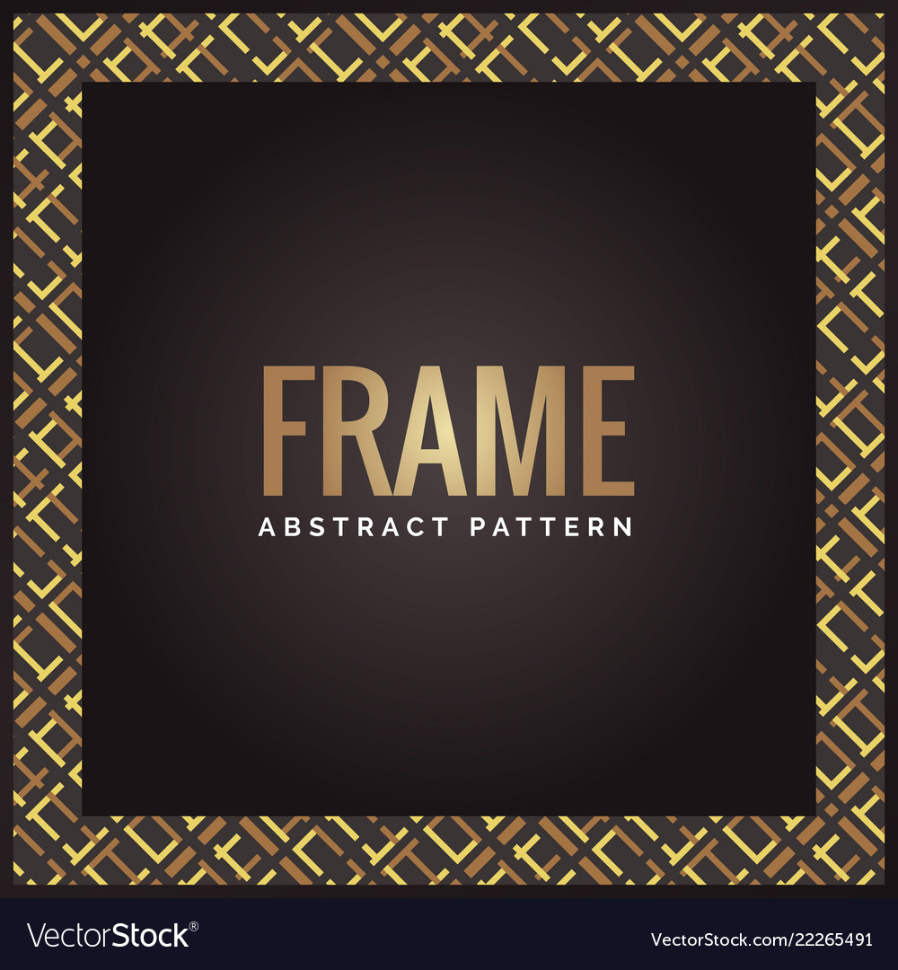 Black and gold luxury geometric abstract frame