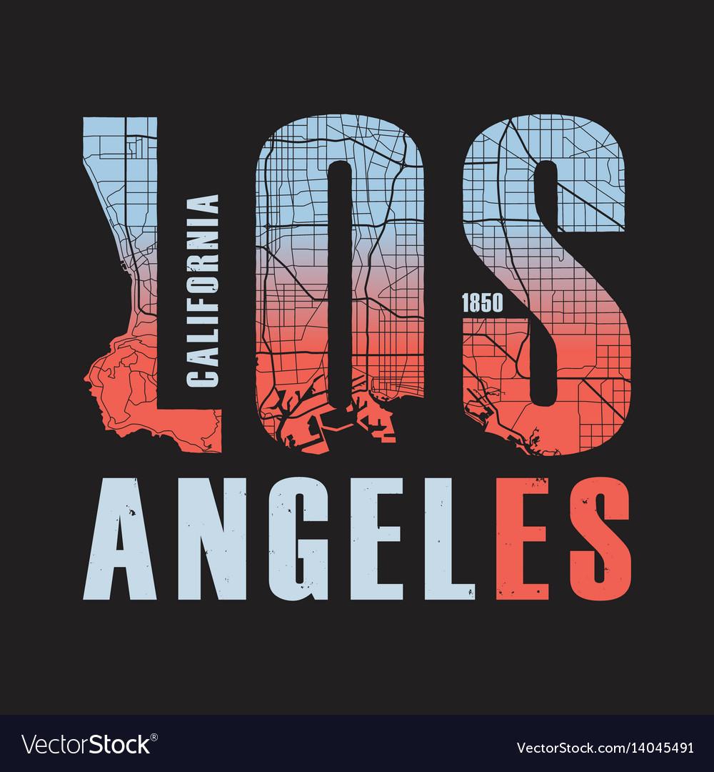 Los angeles california tee print