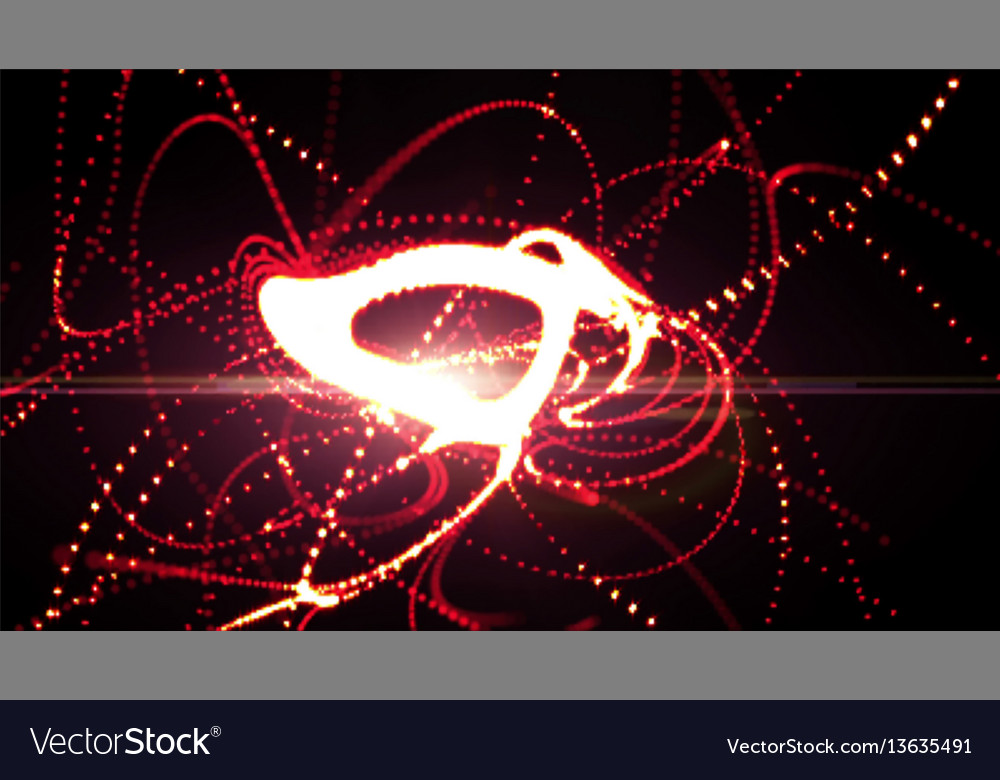 Red background with bright lights abstract