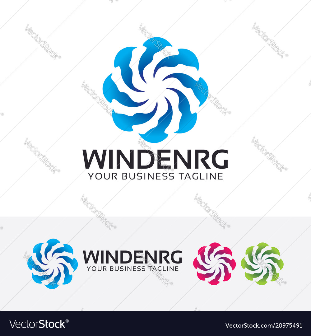 Wind energy logo design