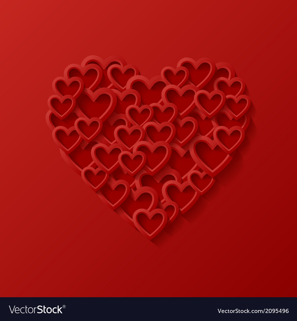 Abstract love background vector image