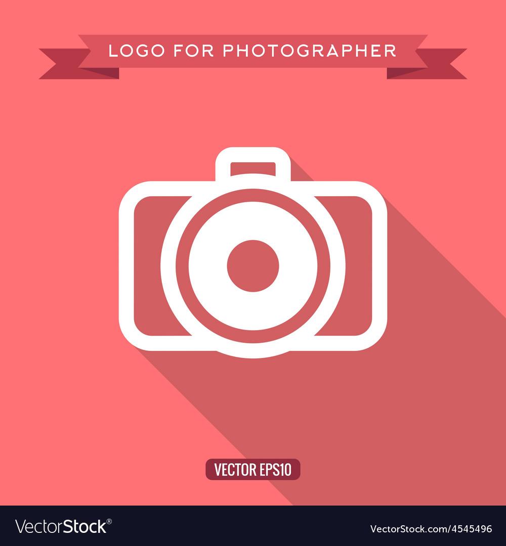 Camera icon logo flat style
