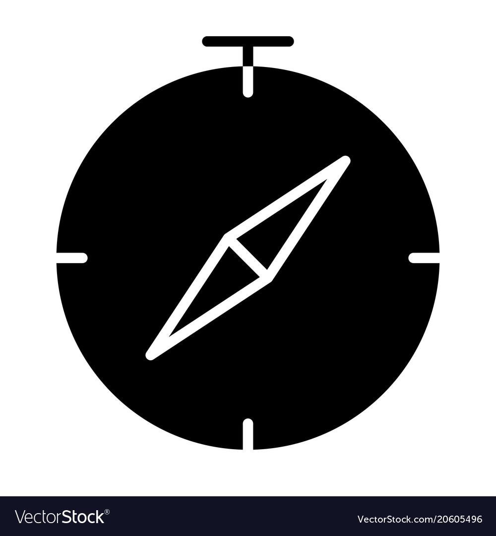 Compass icon simple minimal 96x96 pictogram