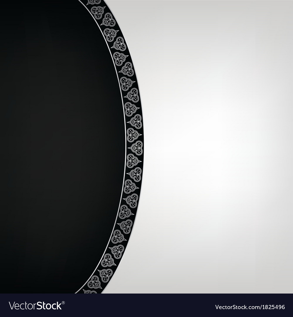 dark background with silver border royalty free vector image