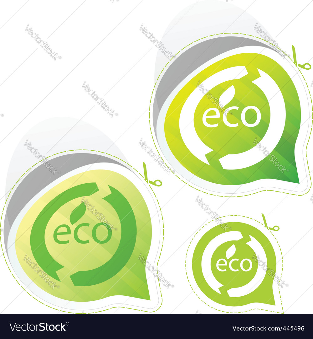 Eco sticker set