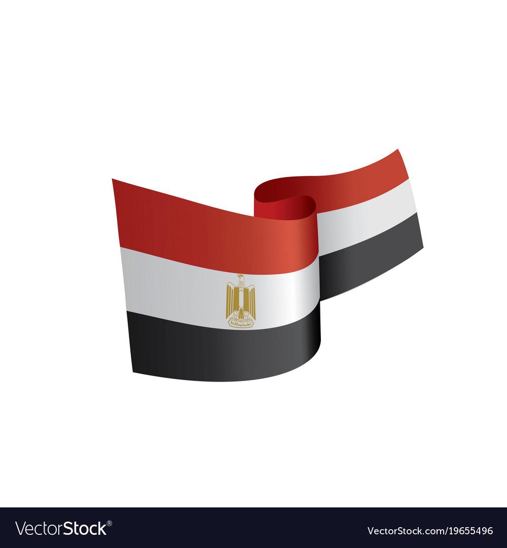 egypt flag royalty free vector image vectorstock rh vectorstock com flag vector art free flag vector graphics