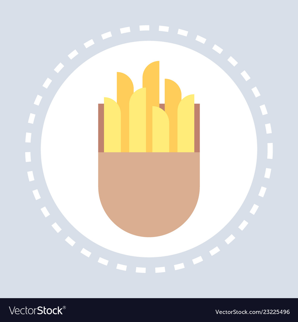 Fastfood sign french fries icon unhealthy food