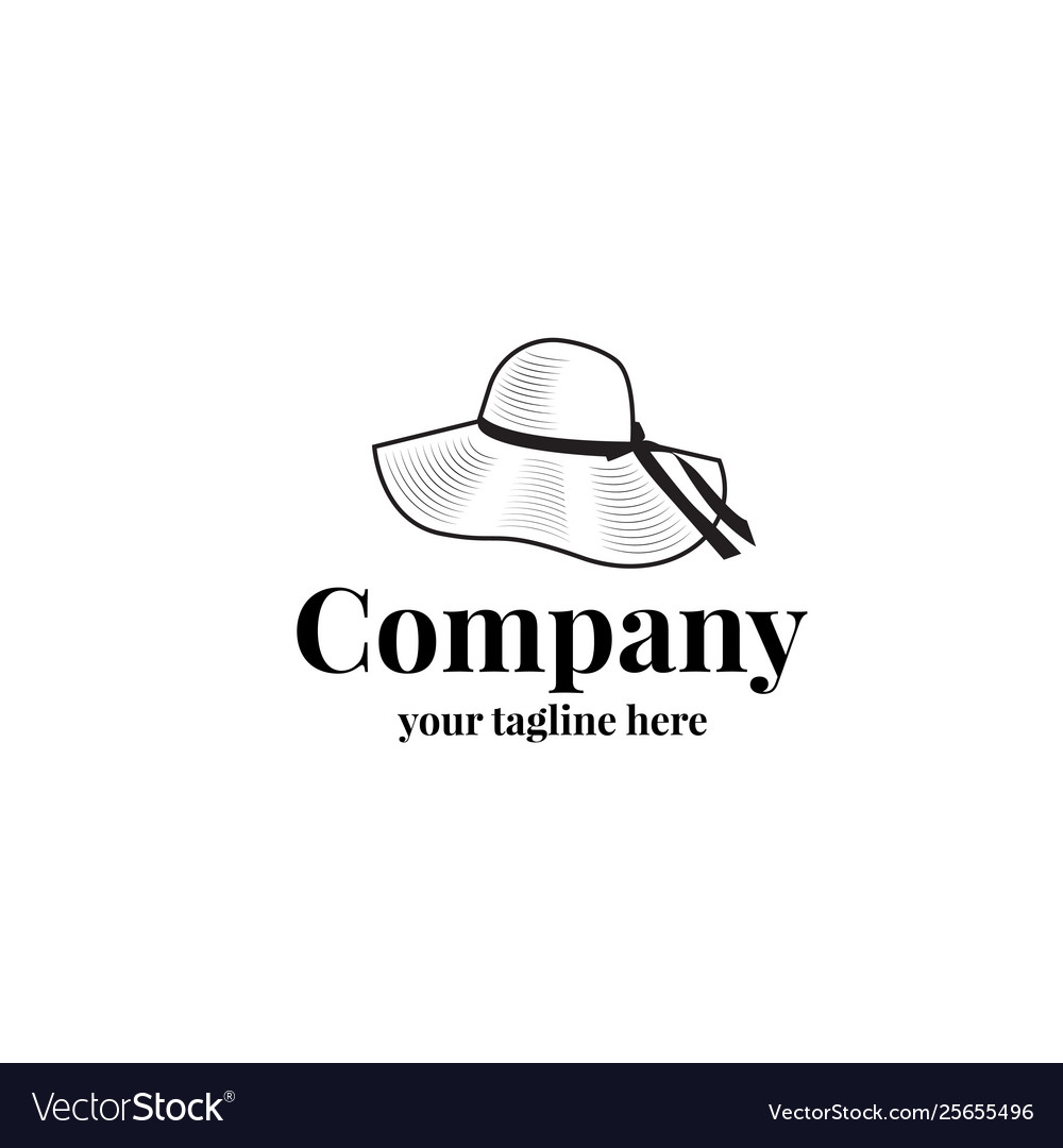 Female hat logo template