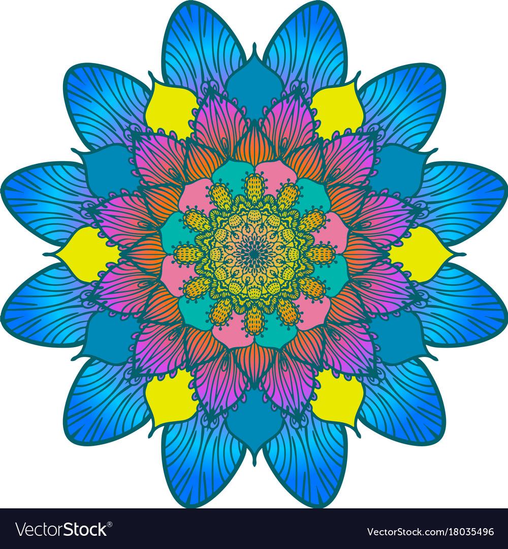 Flower color mandala