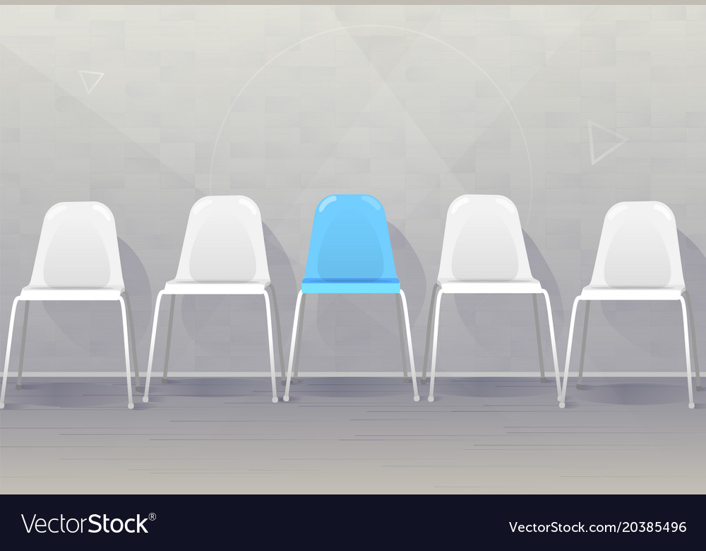 Job recruiting concept banner vacant chairs near vector image
