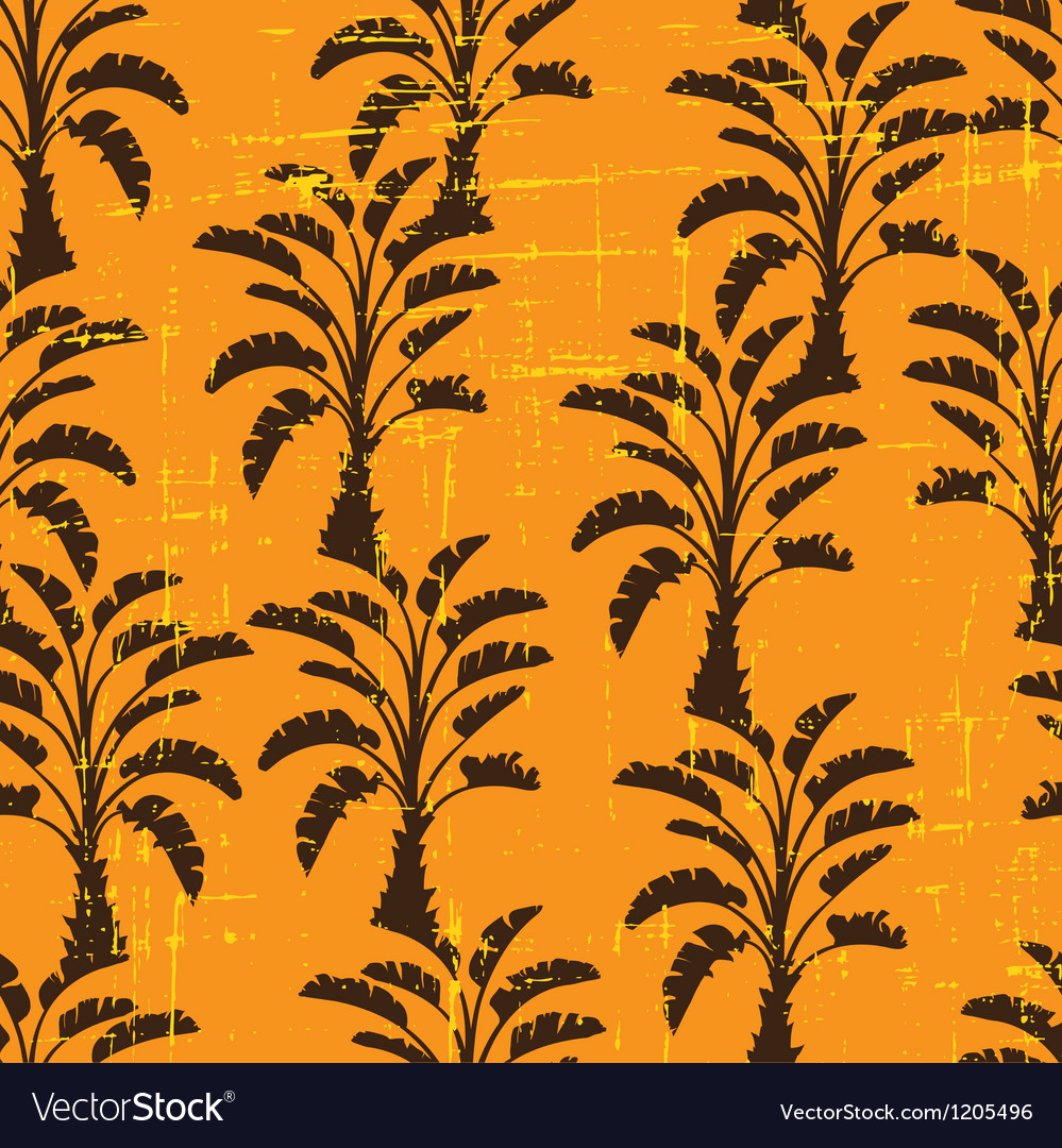 Seamless pattern of palm trees vector image