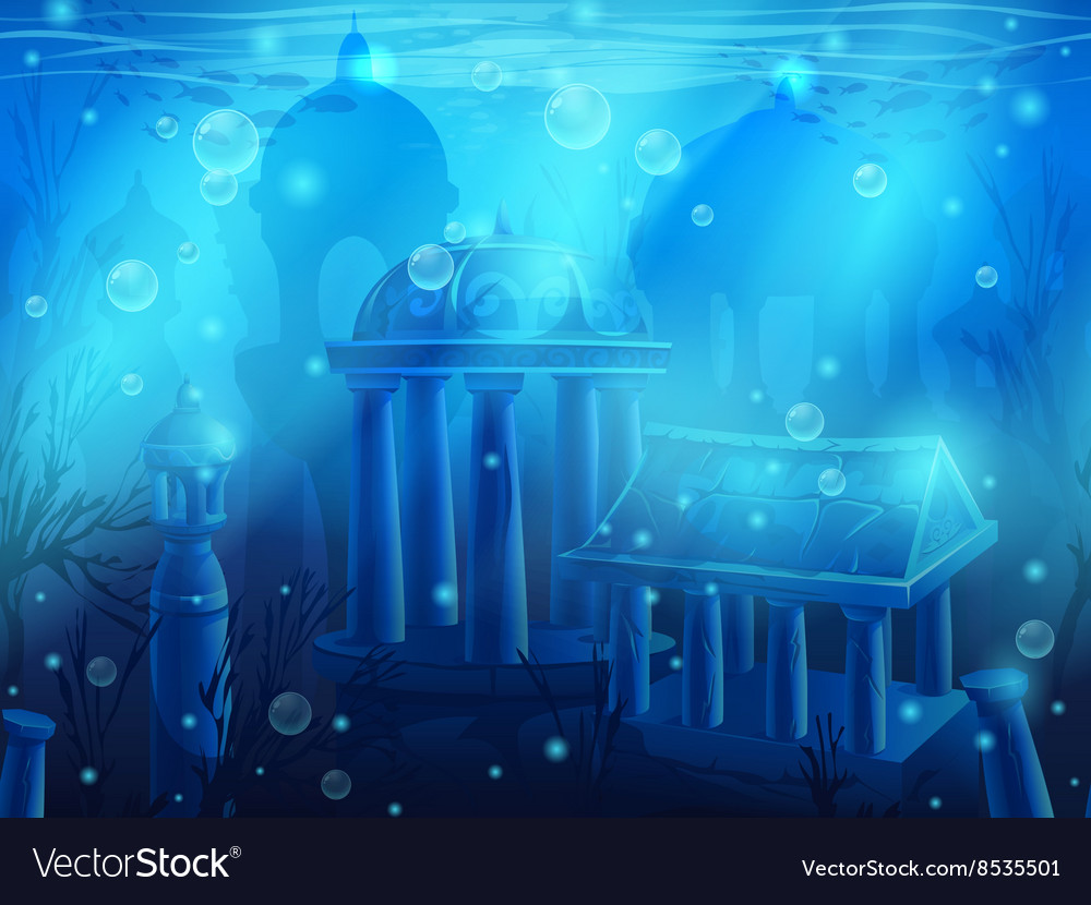 seamless underwater landscape vector images 61