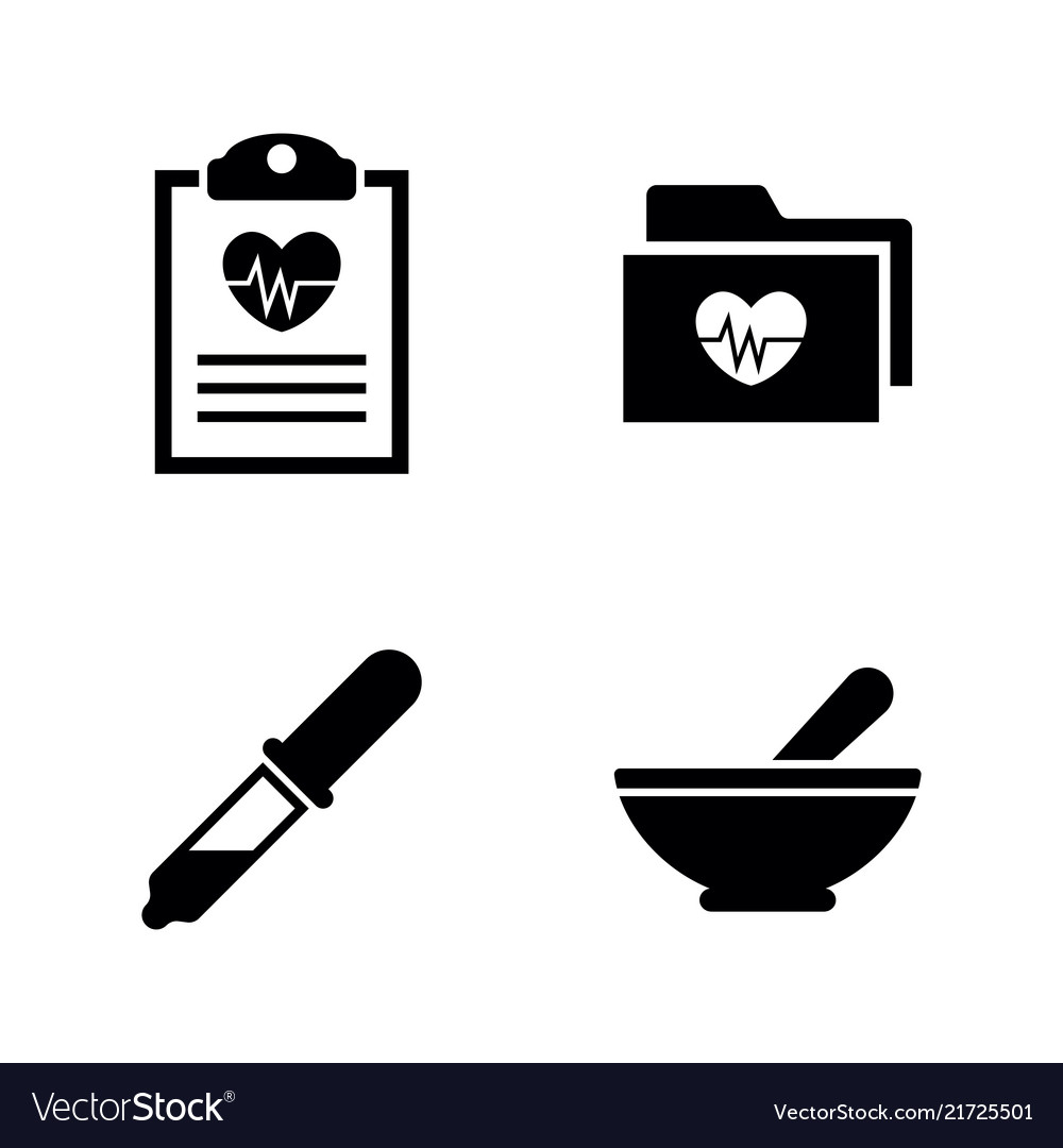 Health heart simple related icons