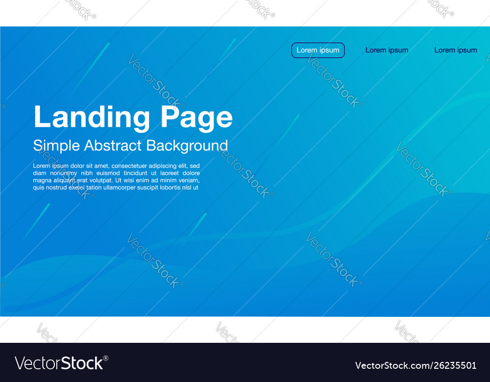 Landing Page Simple Design Light Color Page