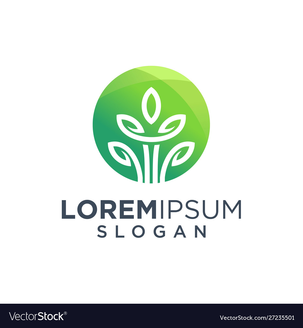 Leaf tree logo design