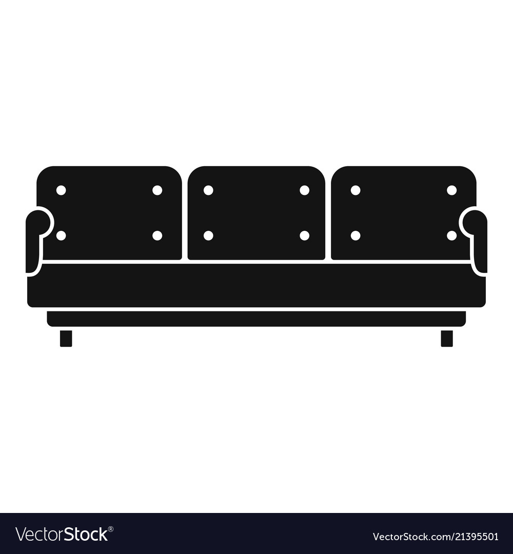 Pillow Sofa Icon Simple Style Royalty Free Vector Image