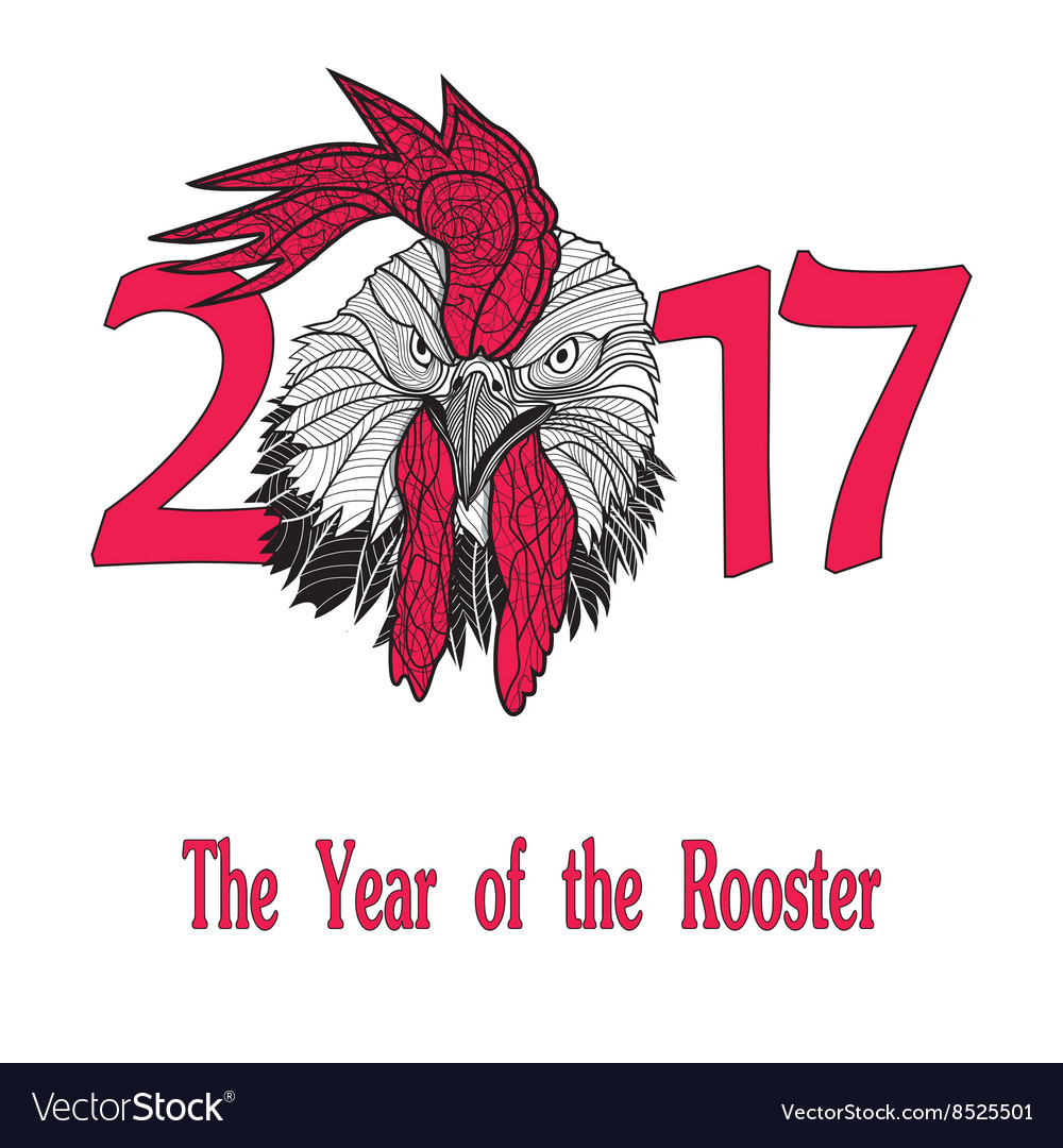 Rooster bird concept chinese new year