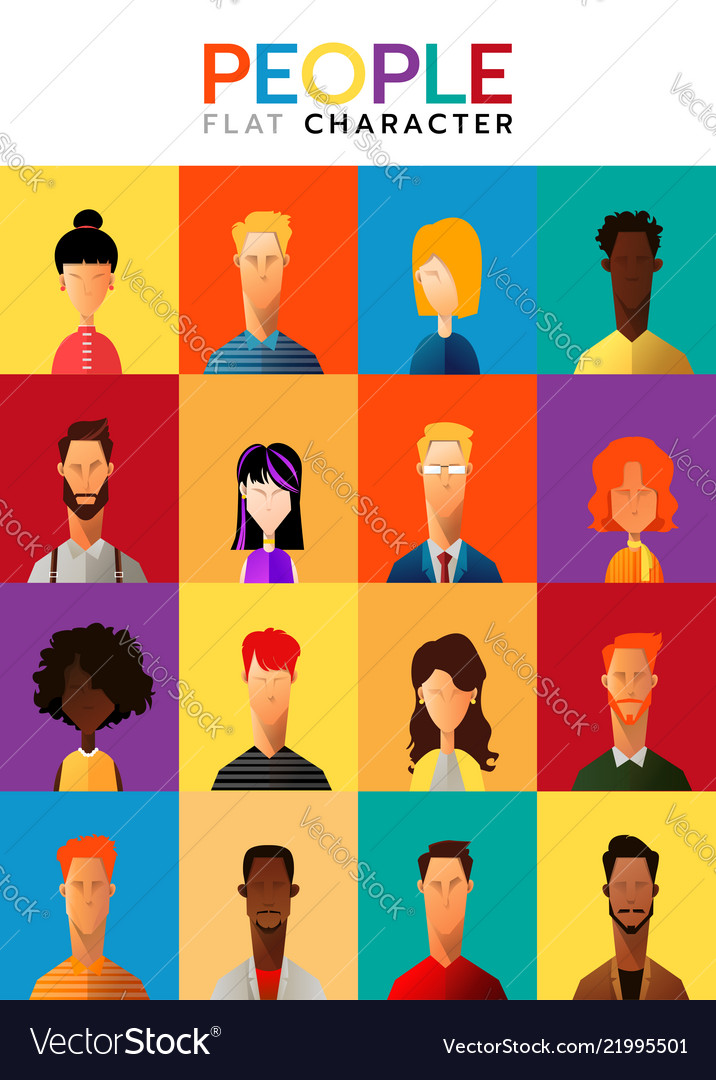 Set of business people collection of diverse