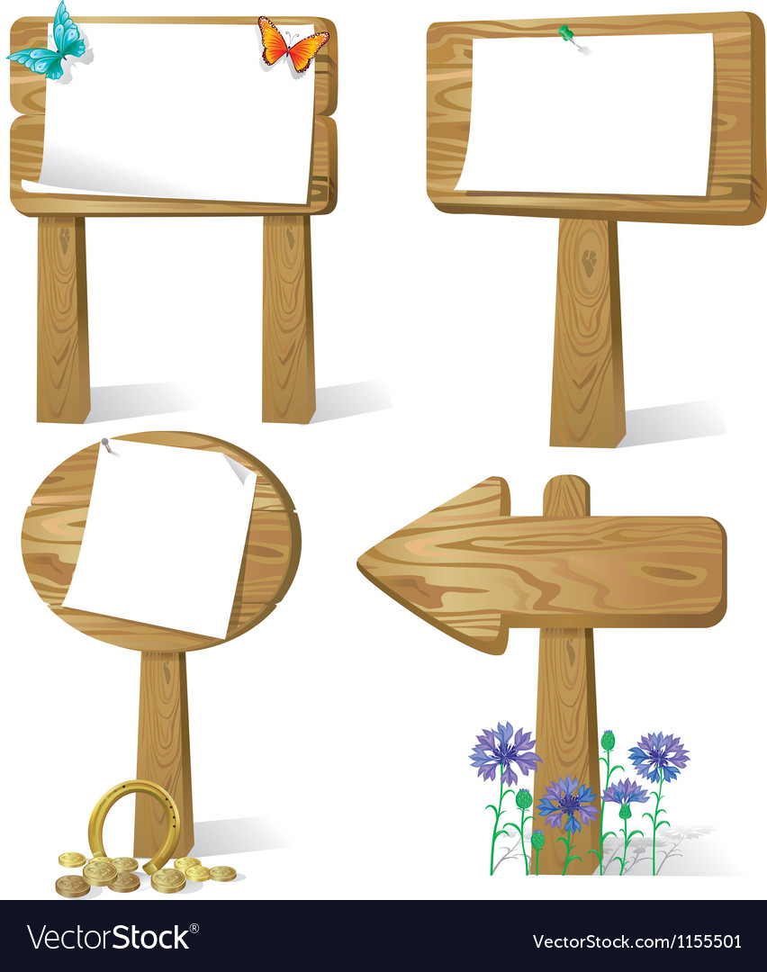 Sign board wood