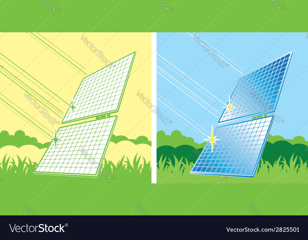 Solar panels in color
