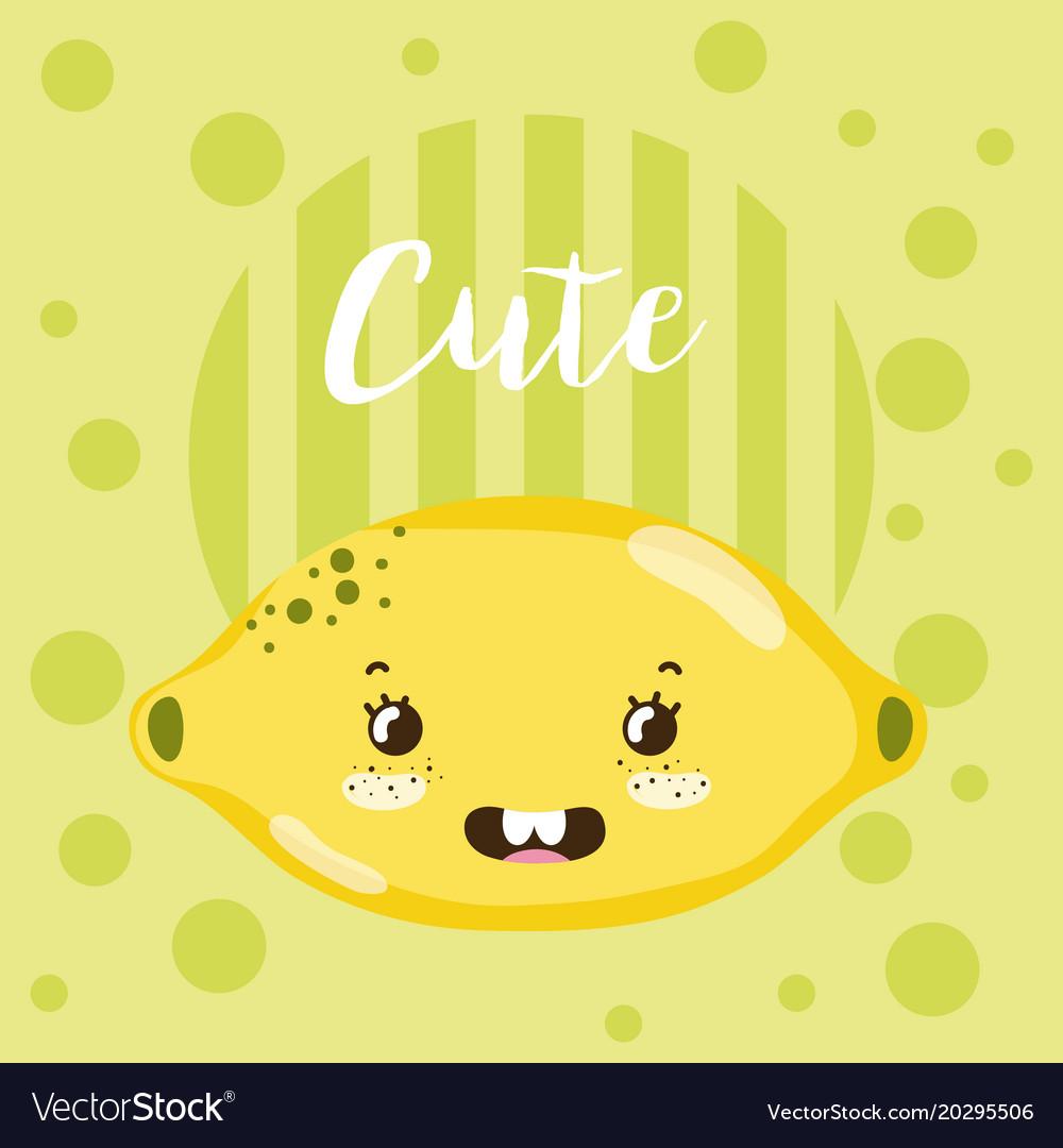Cute fruit kawaii cartoon