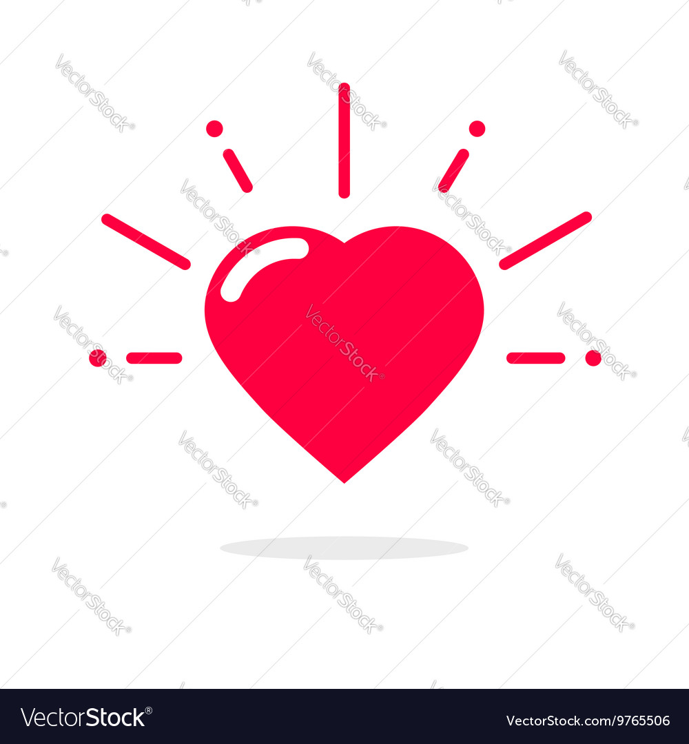 Happy heart icon isolated on white vector image