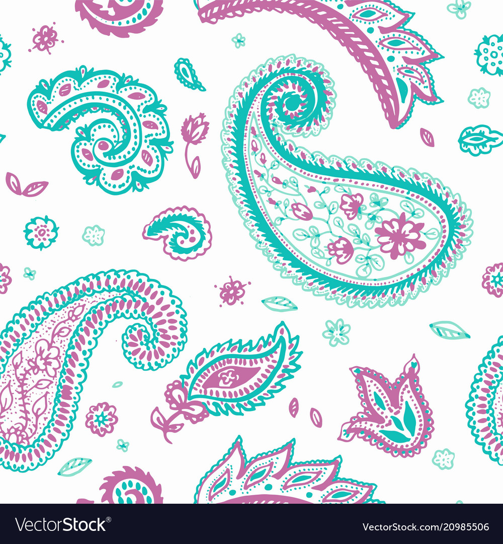Paisley pattern of indian floral ornament