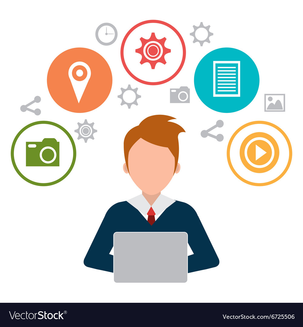 social media and digital marketing royalty free vector image vectorstock