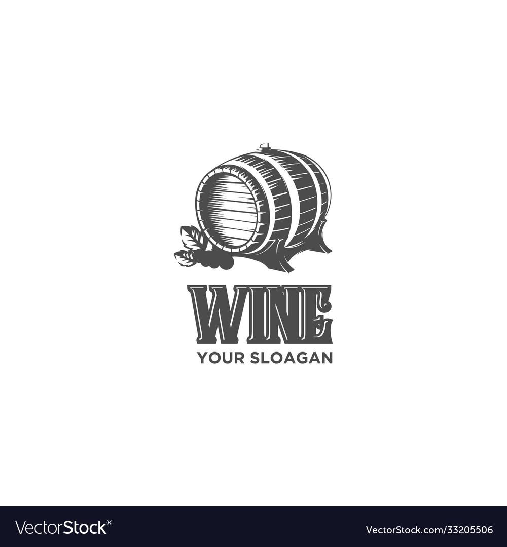 Vintage wine drum