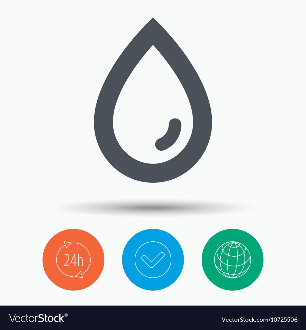 Water drop icon Natural aqua sign
