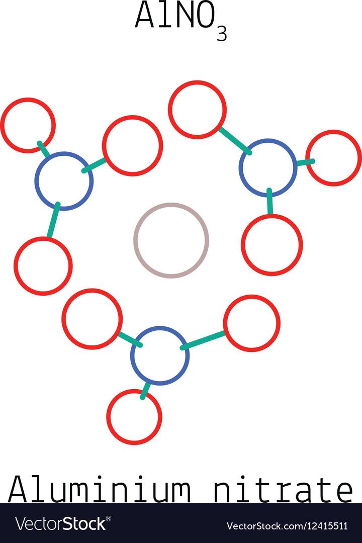 Aluminium Nitrate Alno3 Molecule Royalty Free Vector Image