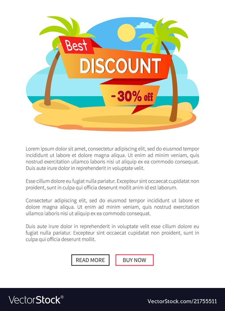 Best discount 30 off summer hot sale poster tropic