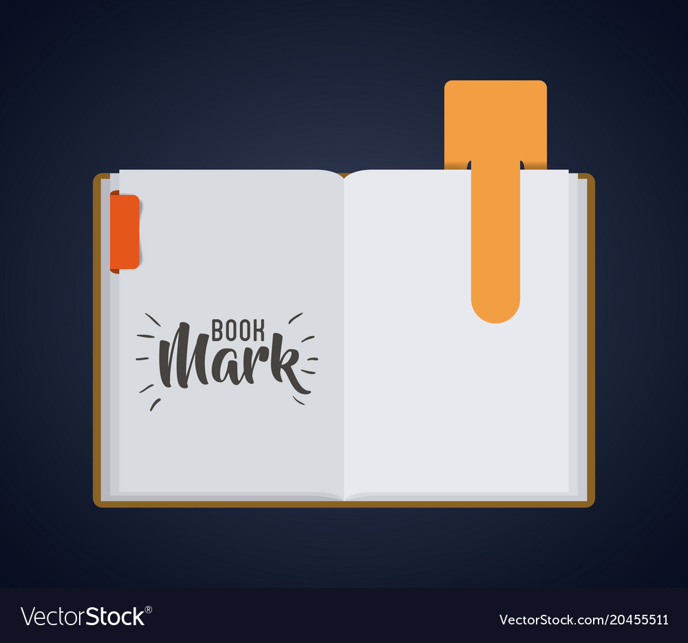 bookmark label tag and book design royalty free vector image