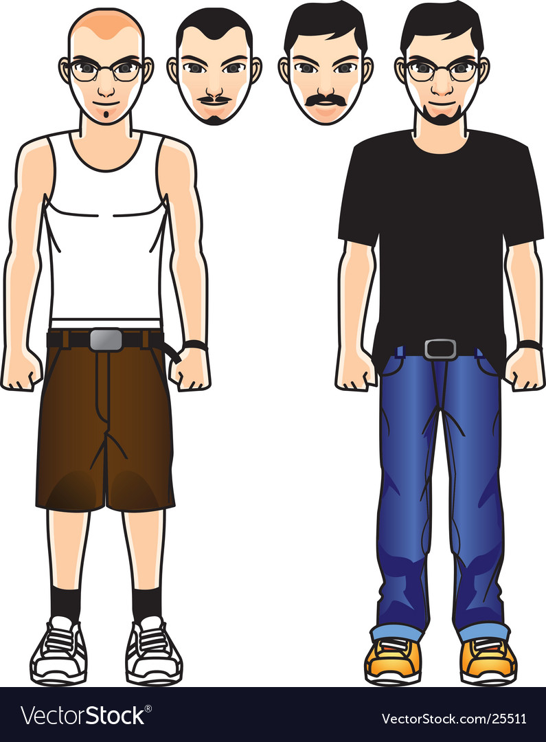 Comic male figure